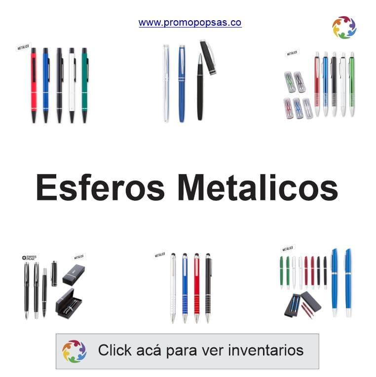 esferos metalicos promopopsas